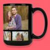 tri photo black mug