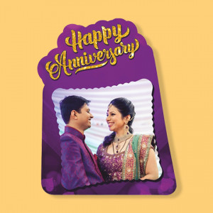 Happy Anniversary - Fancy Photo Frame