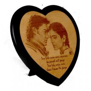 HeartShape Wooden-Engraving