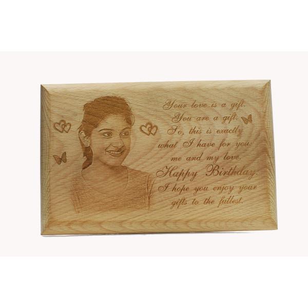 Plain Wood Engraving