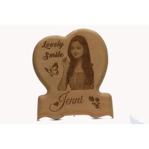 Heart Wood Engraving