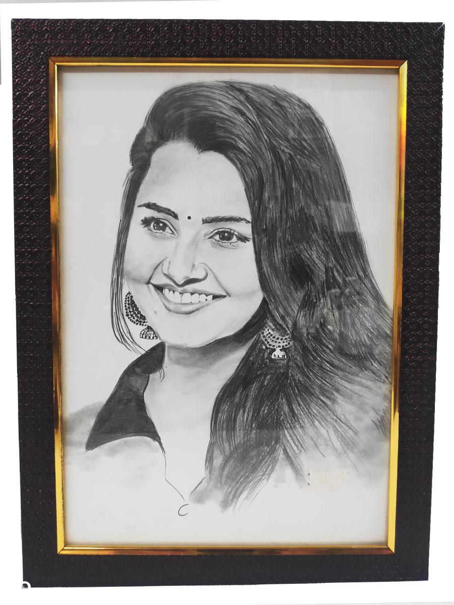 Generic Personalised Digital Pencil Sketch Photo Frame 20x20 inch