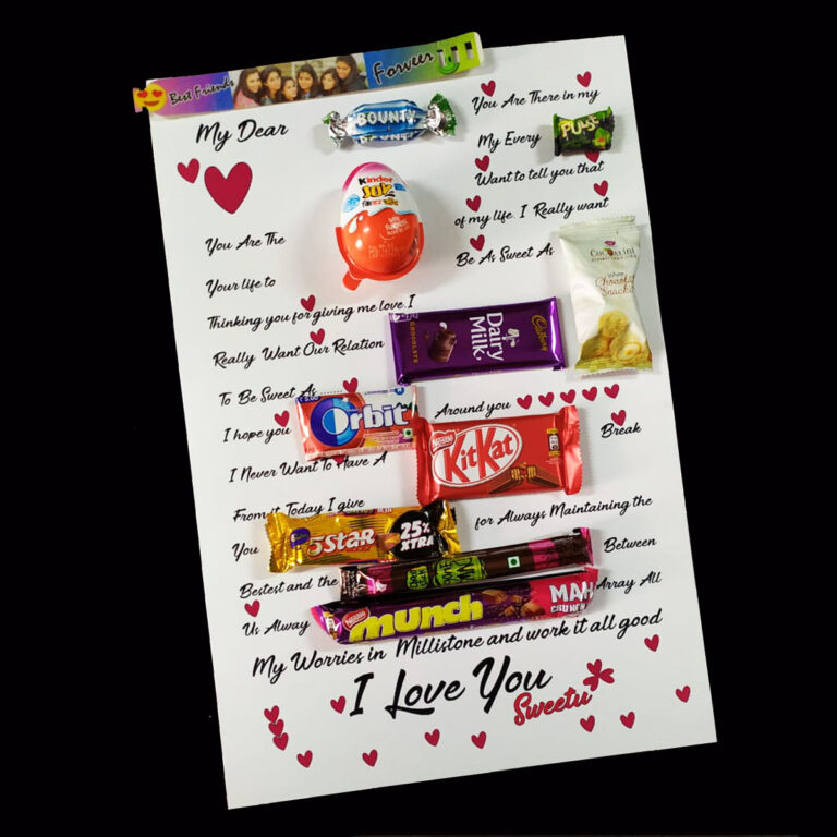 Friendship Letter with Chocolates