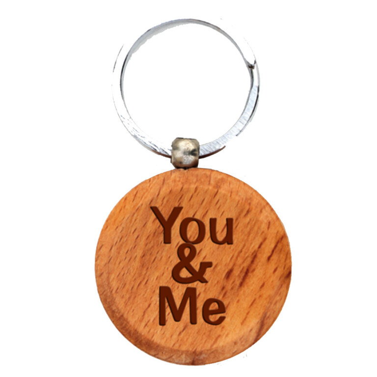 Wooden Engraving Keychain