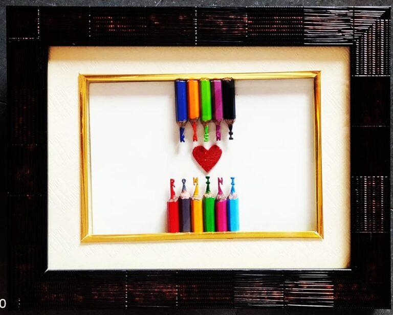 Micro art pencil carving