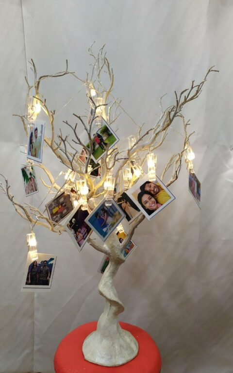 Customised tree with photos & Led lighting